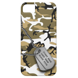 Desert Camo w/ Dog Tags Case For The iPhone 5