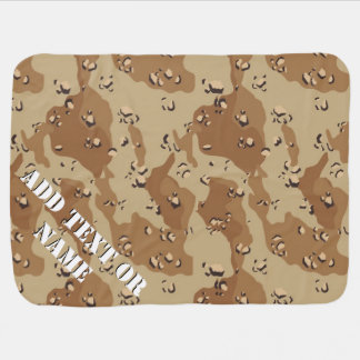 Desert Camouflage (1) Military Background Baby Blanket