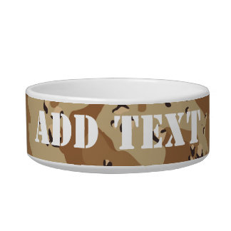 Desert Camouflage (1) Pet Food Bowl