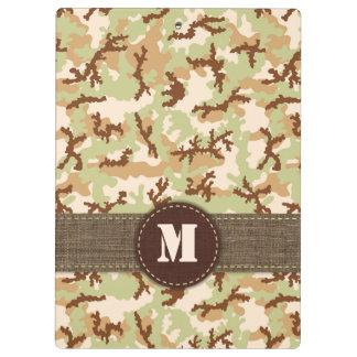 Desert camouflage clipboards