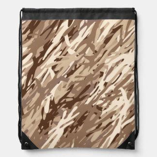 Desert Camouflage Drawstring Backpack