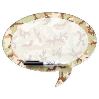Desert camouflage dry erase board