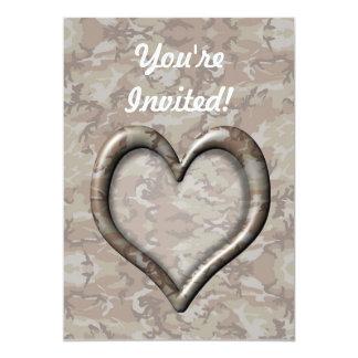 "Desert Camouflage Heart 5"" X 7"" Invitation Card"