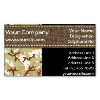 Desert camouflage magnetic business cards