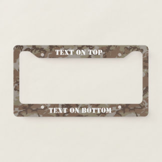 Desert  Camouflage Military Pattern Licence Plate Frame