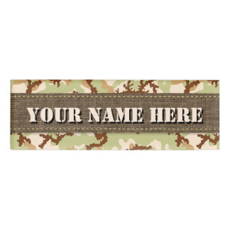 Desert camouflage name tag