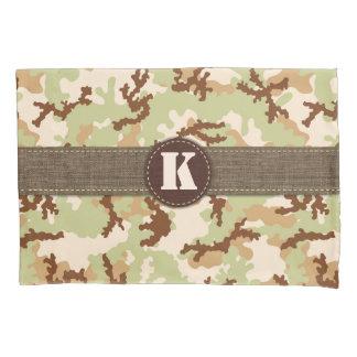 Desert camouflage pillowcase