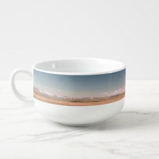 Desert clouds soup mug