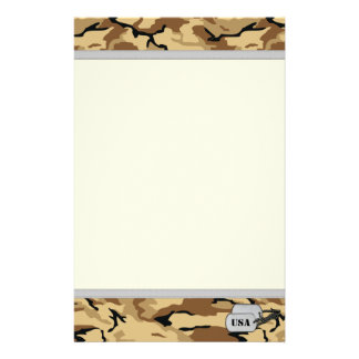 Desert Color Camo Stationery