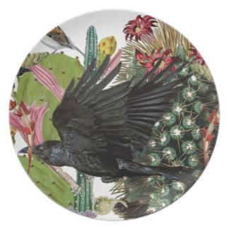 Desert Crow Picnic Plate