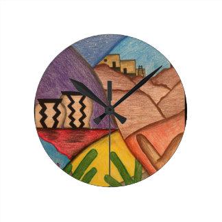 Desert Dance Arizona  Southwest Wall Clock