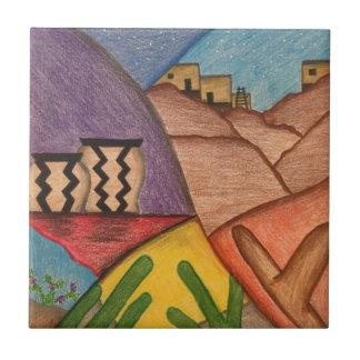 Desert Dance Ceramic Tile