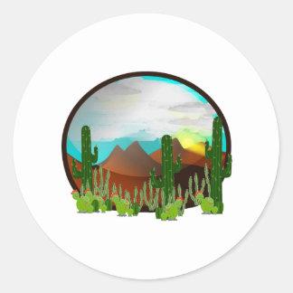 Desert Daydreams Classic Round Sticker