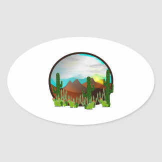 Desert Daydreams Oval Sticker