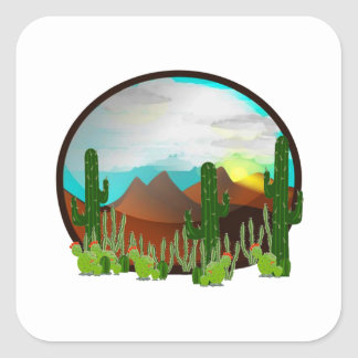 Desert Daydreams Square Sticker