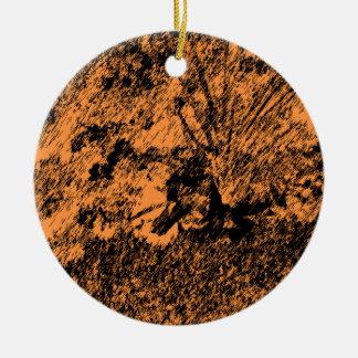 Desert Design Round Ceramic Decoration