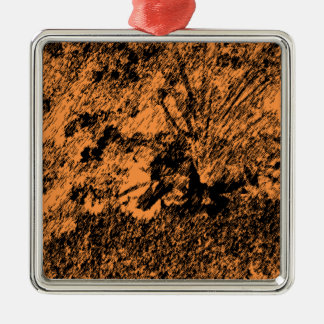 Desert Design Silver-Colored Square Decoration