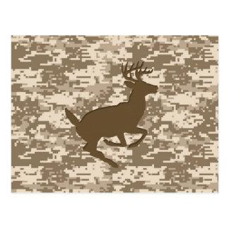 Desert Digital Camouflage Deer Camo Pattern Postcard