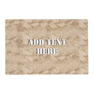 Desert Digital Military Background Laminated Placemat