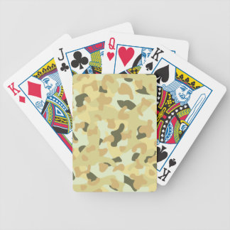 Desert disruptive camouflage bicycle playing cards