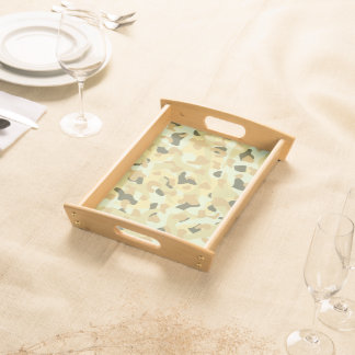 Desert disruptive camouflage serving tray