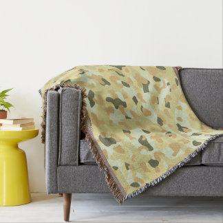 Desert disruptive camouflage throw blanket