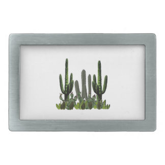 Desert Domain Rectangular Belt Buckle