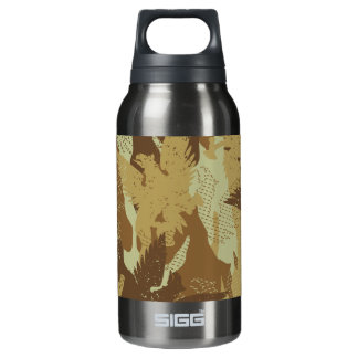 Desert eagle camouflage insulated water bottle
