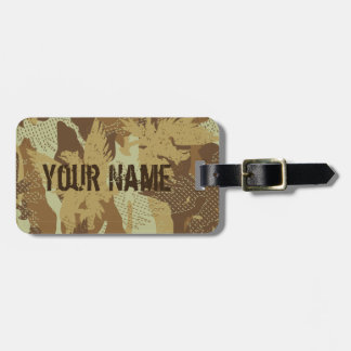 Desert eagle camouflage luggage tag
