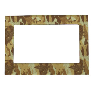 Desert eagle camouflage magnetic picture frame