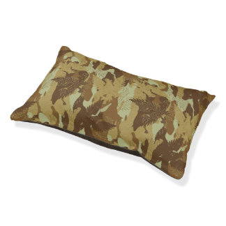 Desert eagle camouflage pet bed