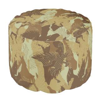 Desert eagle camouflage pouf