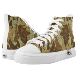Desert eagle camouflage printed shoes