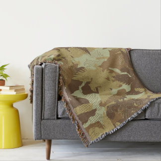 Desert eagle camouflage throw blanket