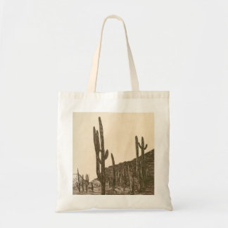 Desert evening tote bag