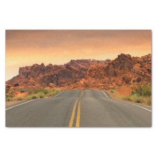 Desert Highway Scenery Landscape Tissue Paper