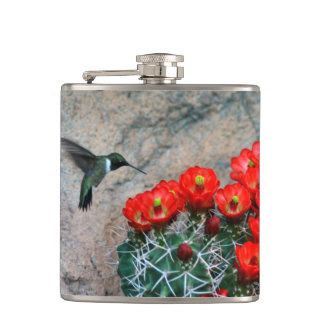 Desert Hummingbird Hip Flask