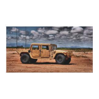 Desert Humvee - Fine Art Canvas Print