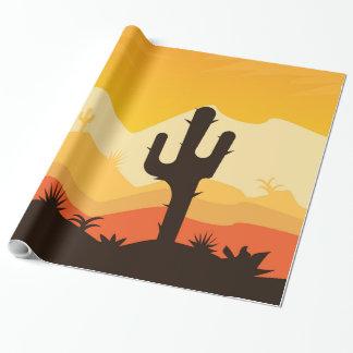 Desert Illustration Wrapping Paper