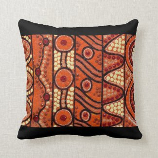 Desert Journey Black Accent Pillow Cushion