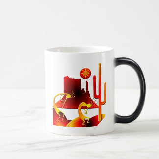 Desert Kokopelli Magic Mug