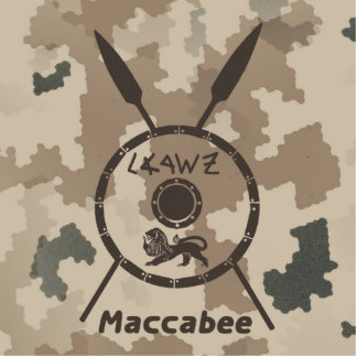 Desert Maccabee Shield And Spears Photo Sculpture Magnet