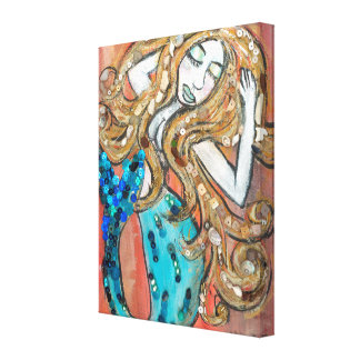 Desert Mermaid Wrapped Canvas
