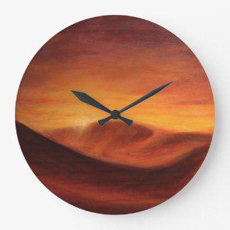 Desert of Sahara Large Clock