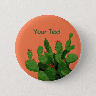 Desert Prickly Pear Arizona Custom Button