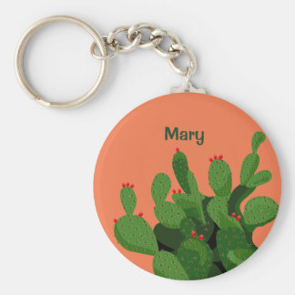 Desert Prickly Pear Arizona Custom Keychain