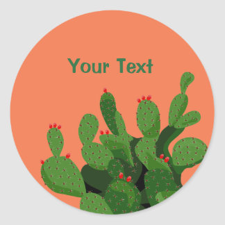 Desert Prickly Pear Arizona Custom Sticker