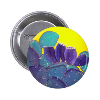 Desert Prickly Pear with Fruit Pinback Button