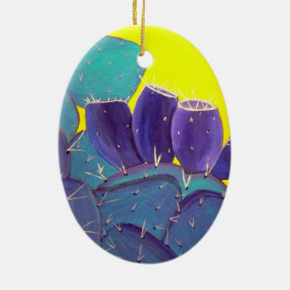 Desert Prickly Pear with Fruit Christmas Tree Ornaments