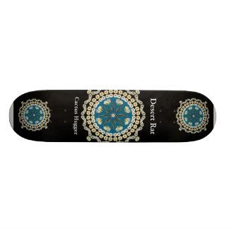 Desert Rate Skateboard with Saguaro Mandala